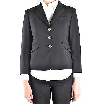 Emilio Pucci Ezbc240001 Women's Black Wool Blazer