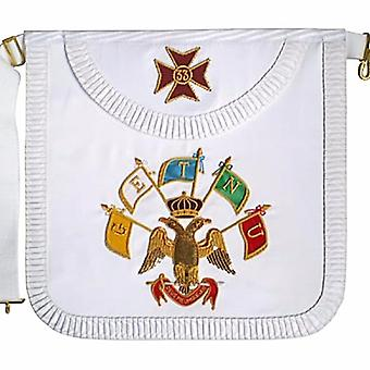 Masonic Scottish Rite Satin Round Apron � AASR � 33rd degree-Satin
