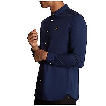 Lyle & Scott Slim Fit Poplin Shirt-Navy