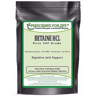 Betaine HCL-Natural USP Fine rakeinen-ruoan sulatus hapon tuki