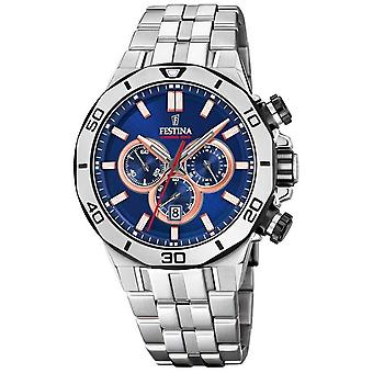 Festina Chrono Bike 2019 | Pulsera de acero inoxidable | Blue dial F20448/1 Watch