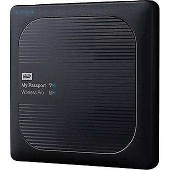 WD マイパスポート™ ワイヤレスプロ WDBP2P0020BBK-EESN Wi-Fi HDD 2 TB ブラック Cl Cl. SD アダプタ