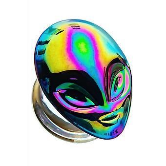 Body Vibe Oil Slick Alien Skull Glass Plugs