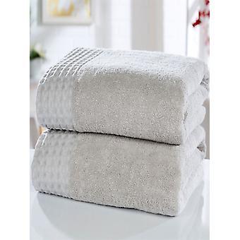 Retraite 2 stuk handdoek Bale zilver