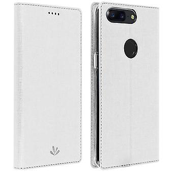 Window flip case, standing case by Vili for OnePlus 5T - White