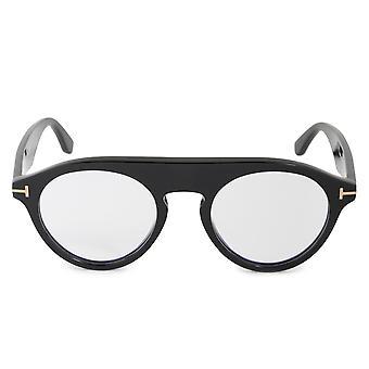 Tom Ford Blue Block Christopher-02 FT0633 001 49 Oval Glasses