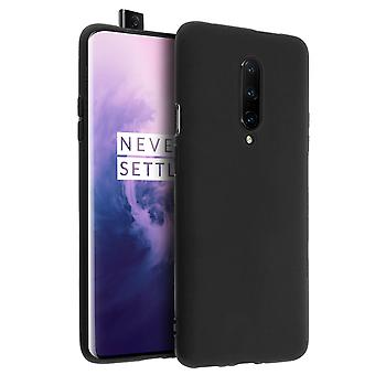 Silicone case, Glossy & matte back cover for Oneplus 7 Pro - Black