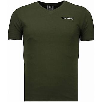 Basic  V Neck - T-Shirt - Groen