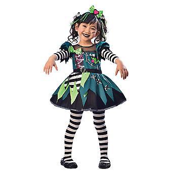 Ragazze Piccola Signorina Frankie Halloween Fancy Abito