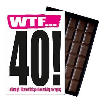 Divertido 40 cumpleaños regalo Rude travieso presente para él o su 85g tarjeta de chocolate IYF115