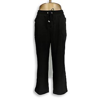 Isaac Mizrahi Live! Women's Petite Pants LP SOHO Straight Leg Negro A295681