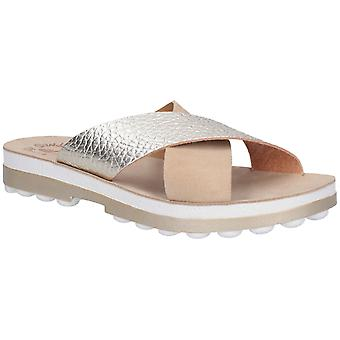 Fantasy Womens Charis Slip On Sandal Nude Volcano