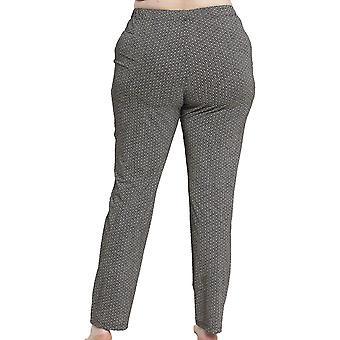 Rösch 1194563-16370 ženy ' s krivkou čierna škvrnitý tlač pyžamo Pant