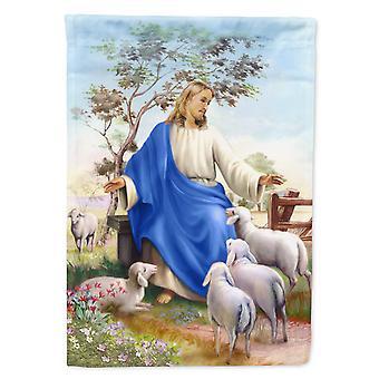 كارولينز كنوز APH9641GF يسوع و قطيعه من الأغنام العلم حديقة الحجم