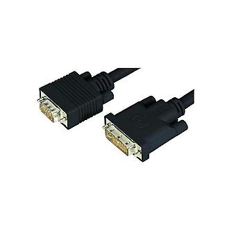Wicked Wired 2m DVI-A Mâle À HD15 15Pin Câble VGA Homme