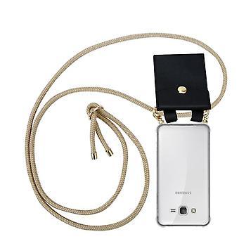 Cadorabo Handykette Hülle für Samsung Galaxy GRAND PRIME Case Cover - Necklace Umhänge Hülle aus Silikon mit Kordel Band Schnur und abnehmbarem Etui – Schutzhülle Case Cover