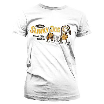 Women's Toy Story Slinky Dog White Fitted T-Shirt