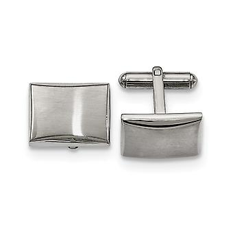 Stainless Steel Polished and Brushed Cuff Links Jewelry Gifts for Men