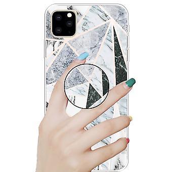 Beskyttende etui deksel for Apple iPhone 11 6,1 tommer Polytriangle 3D marmor TPU silikon veske