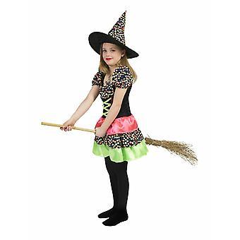 Noita Wendy lasten puku noita puku mekko värikäs tyttö halloween Carnival lasten karnevaali puku