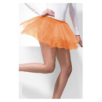 Womens oranje Tutu onderjurk Fancy Dress accessoire