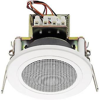 PA recessed speaker Monacor EDL-82/WS 6 W 100 V White 1 pc(s)