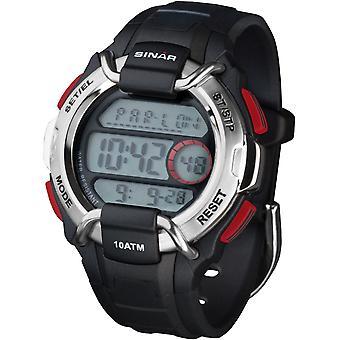 SINAR jeugd horloge mannen polshorloge digitale Quartz Unisex rubber XA-10-1