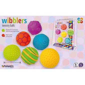 Wibblers Sensory Play & Learn Balls Preschool Toy