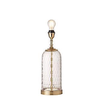 Endon Wistow 1 Lampa stołowa Solid Brass, szyte szkło 73106