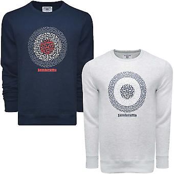 Lambretta Geo Target Mens Casual Long Sleeve Pullover Hoodie Sweatshirt Top