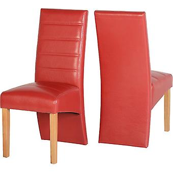 Pair Of G5 Chairs - Red Pu