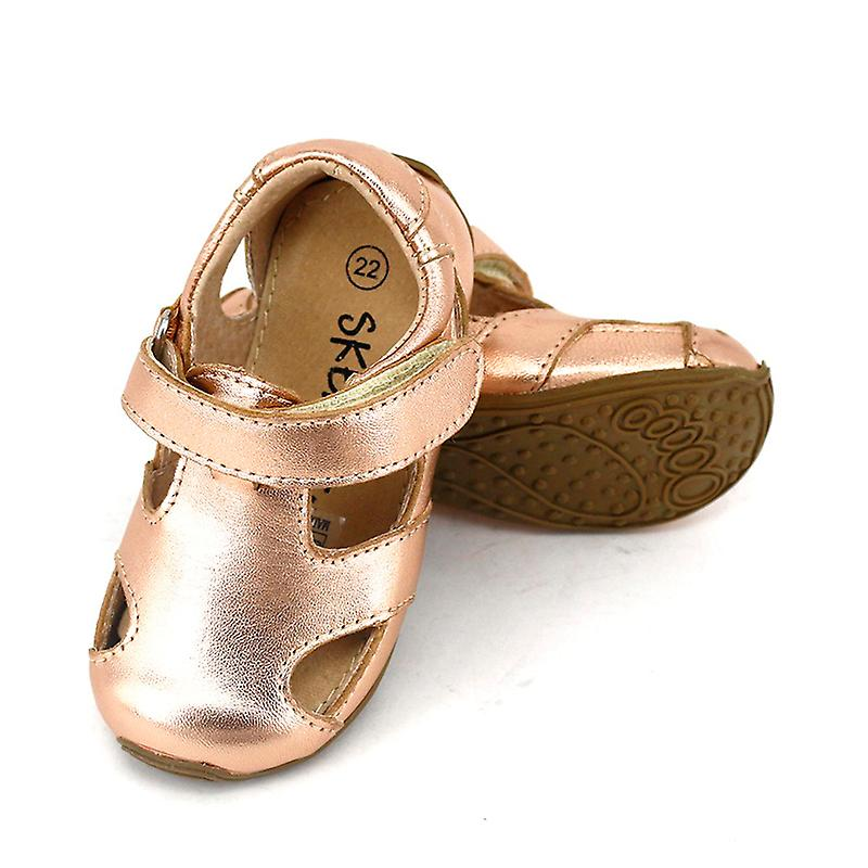 SKEANIE Toddler Leather Sunday Sandals Rose Gold