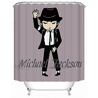 Rideau de douche de dessin animé de Michael Jackson