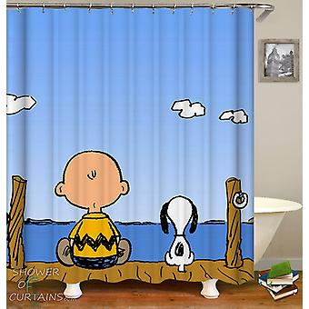 Charlie Brown og Snoopy dusj Curtain