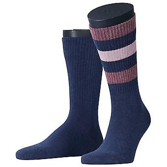 Esprit Colour Block Rib 2-Pack Socken - Navy Mouline