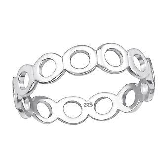 Cirkler - 925 Sterling Sølv Plain ringe - W23772x