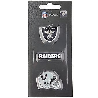 Oakland Raiders NFL Pin Badge Pin Set of 3