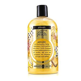 Philosophy Sparkling White Peach Shampoo Shower Gel & Bubble Bath - 480ml/16oz