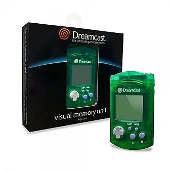 Official sega dreamcast visual display unit vmu memory card - green