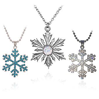 Snowflake princess inspired necklace