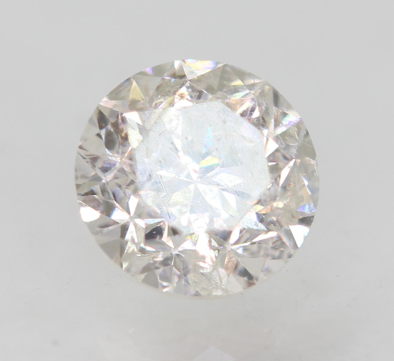 Certified 0.70 Carat E SI2 Round Brilliant Enhanced Natural Loose Diamond 5.47mm