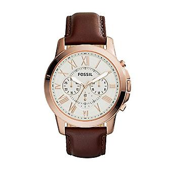 Fossil Analog Men with leather strap FS4991
