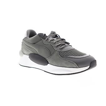 Puma RS 9.8 Gravity  Mens Gray Suede Lace Up Low Top Sneakers Shoes