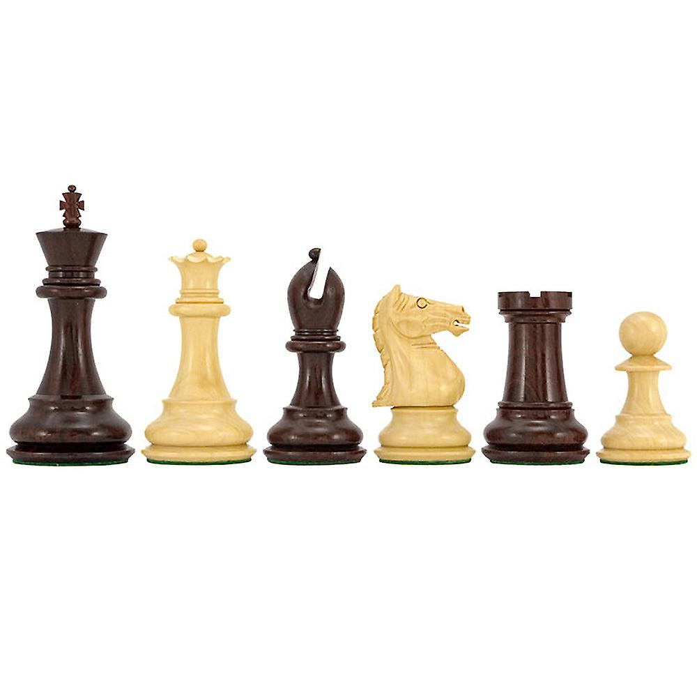 Sentinel Series Rosewood Staunton Chess Pieces 4 Inches