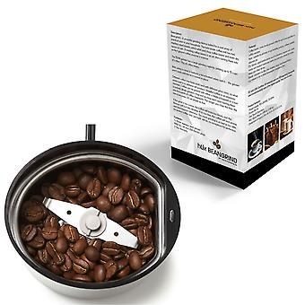 HLix BEANGRIND - White - Coffee Nut and Spice Grinder with Twin Cutting Stainless Steel Blades 75 G Capacity Stainless Steel Interior with Transparent Lid and Powerful 150W Motor.