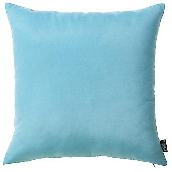 Set of 2 Aqua Blue Brushed Twill Decorative Throw Pillow Covers