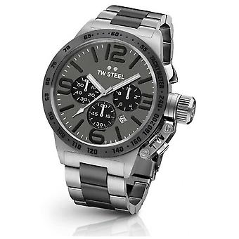 TW Steel Mens Canteen 45mm Chrono Two Tone Grey Dial CB203 Watch
