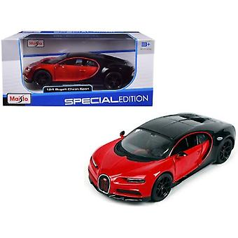Bugatti Chiron Sport 16 Red and Black Special Edition 1/24 Diecast Model Car de Maisto