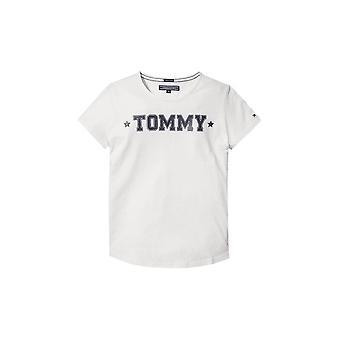 トミー ヒルフィガーの女の子雪白い t シャツ