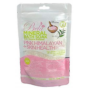 بيلا المعدنية حمام نقع الوردي الهيمالايا + صحة الجلد